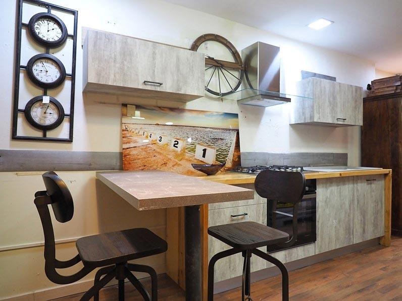 Cucina con penisola tavolo in offerta prezzo sconto outlet for Penisola x cucina