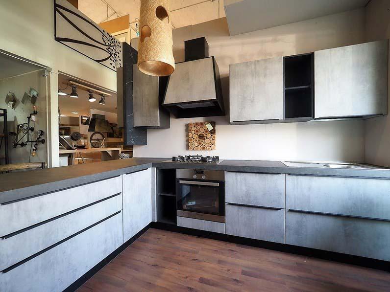 Cucina Moderna Bianca Con Top Grigio.Cucina Grigia Moderna Con Penisola