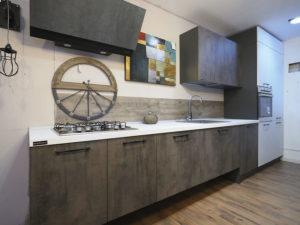 cucina lineare industrial