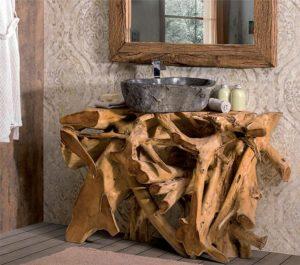 bagno radice legno
