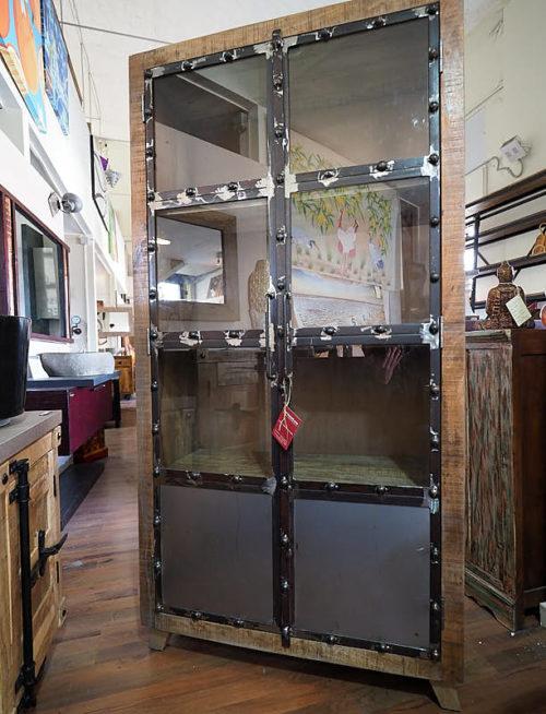 Mobile vetrina legno ferro