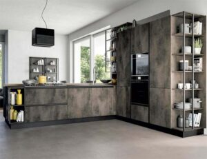 cucina ad angolo industrial