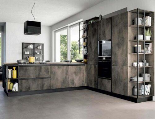 cucina ad angolo industrial