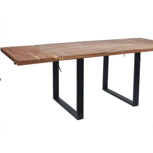 Tavolo legno e ferro allungabile