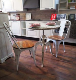 tavolo rotondo ferro