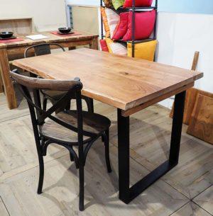 Tavolo tronco unico allungabile