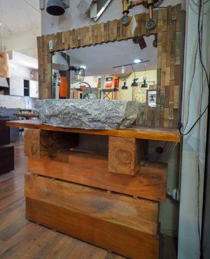 Bagno etnico legno massello