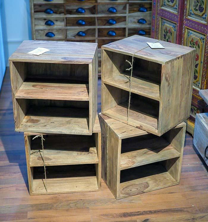 Cubi Legno Componibili.Set 4 Cubi Componibili