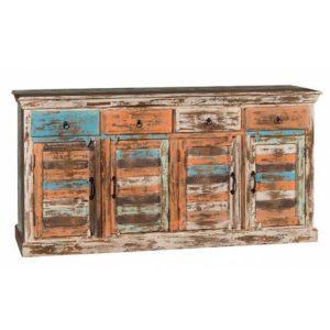 Credenza legno recycle colorata