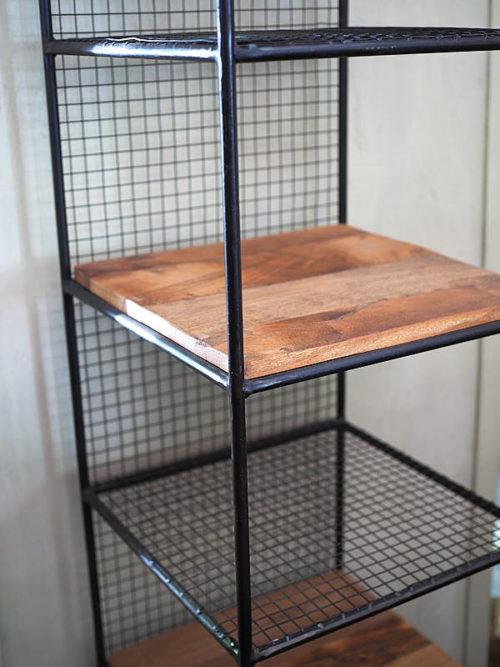 Scaffale legno ferro
