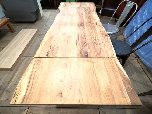 Tavolo allungabile in legno naturale