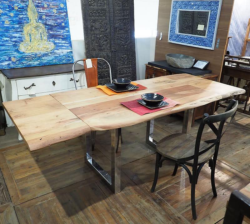 Tavolo allungabile legno massiccio di noce