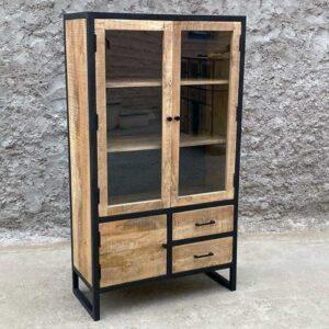 vetrina legno ferro