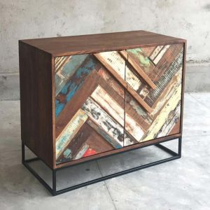 Credenza colorata recycle