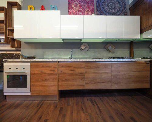 cucina lineare senza frigo