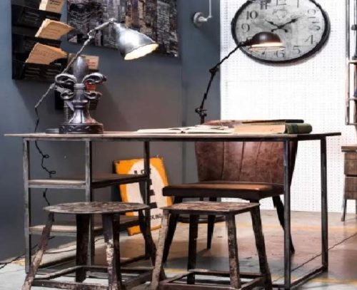 scrivania arredo industrial
