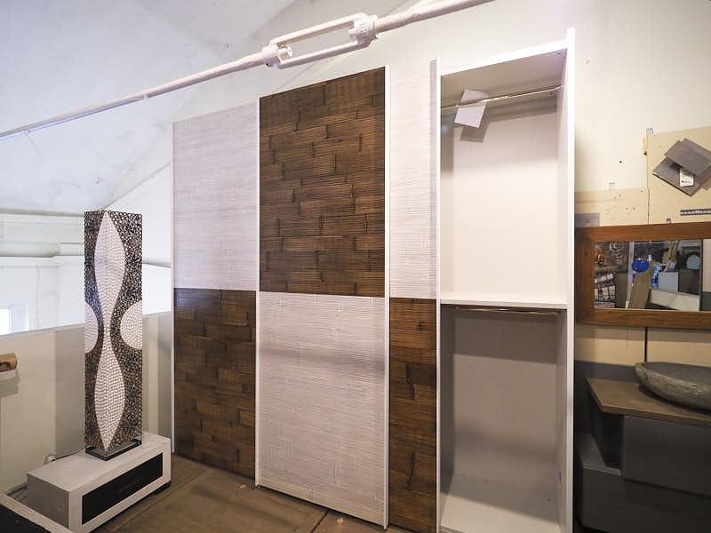 Dimensioni Armadio 3 Ante Scorrevoli.Armadio 3 Ante Scorrevoli Etnico Moderno Finiture In Bambu