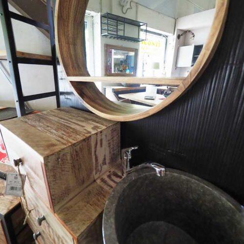 Mobiletto bagno lavabo marmo colonna