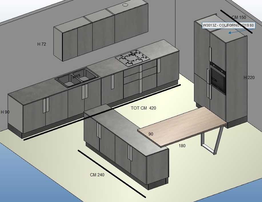 Cucine Moderne Con Prezzi.Cucina Moderna Con Isola Prezzi Composizione In Offerta
