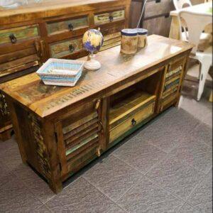 mobiletto basso legno massello