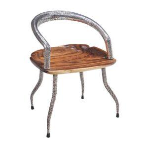 sedia-teak-acciaio