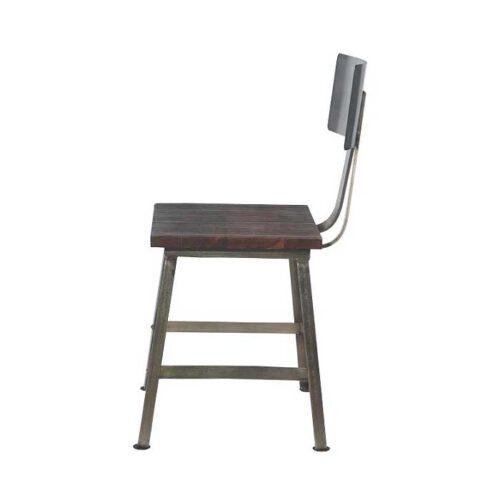 sedia legno e ferro