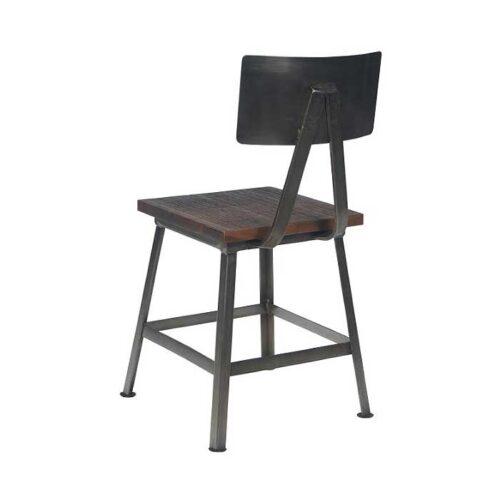 sedia in legno e ferro