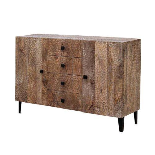 credenza intarsiata legno naturale