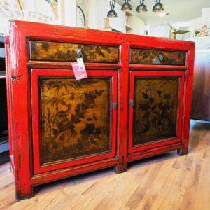 mobile cinese laccato rosso