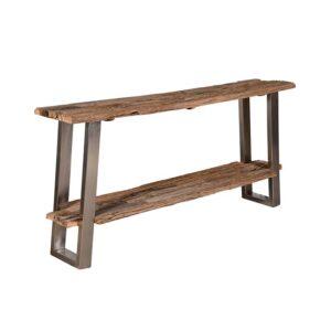 consolle legno naturale