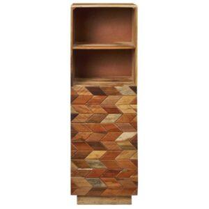 libreria stretta cubik in legno