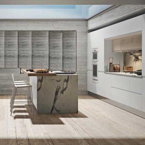 cucina bianca con isola prezzo