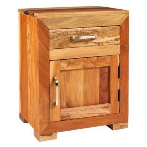 comodino etnico legno