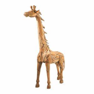 scultura giraffa legno