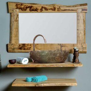 top bagno legno castagno
