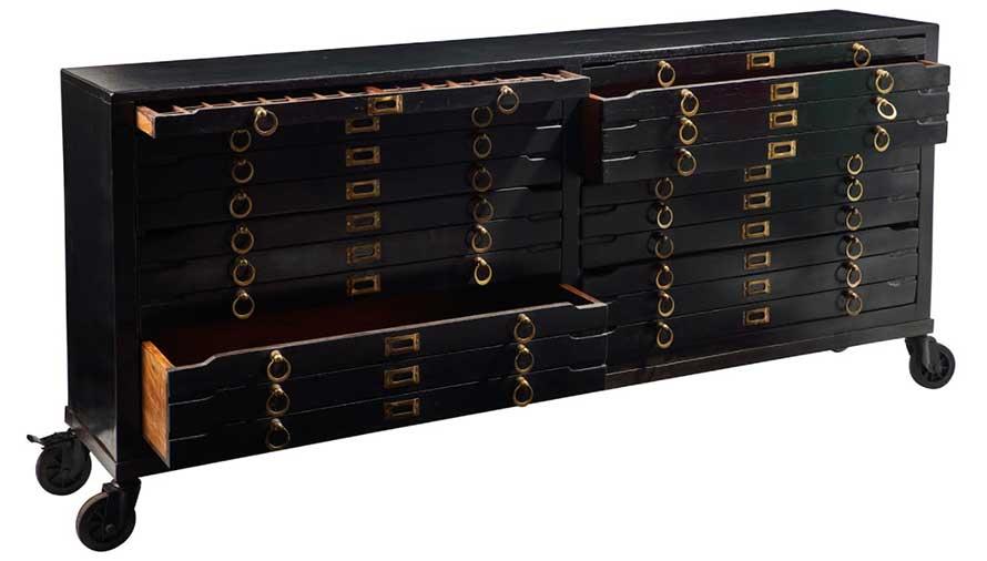 classificatore a cassetti vintage