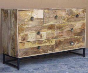 cassettiera vintage legno