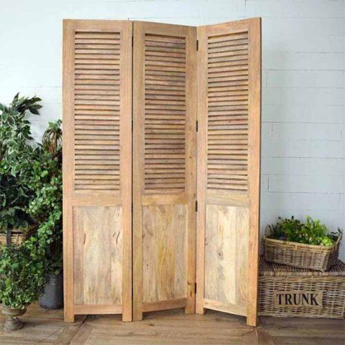 paravento separé legno
