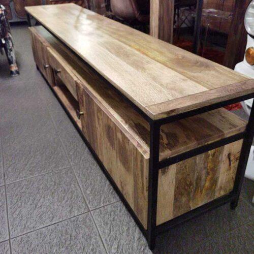 porta tv legno massello ferro