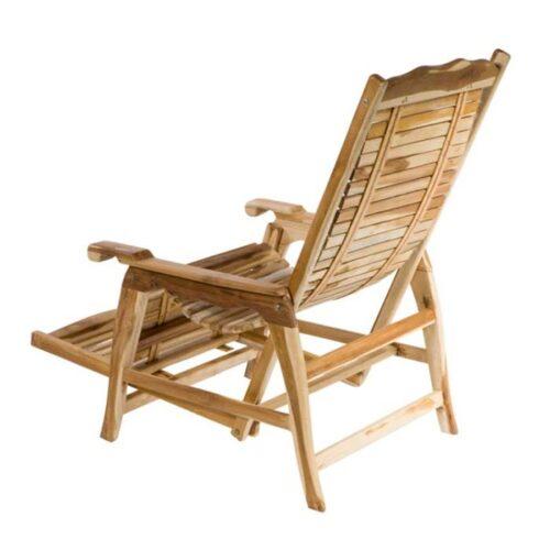 sdraio in legno di teak