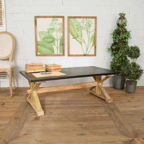 tavolino legno massello country