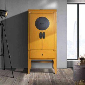 armadio cinese colorato
