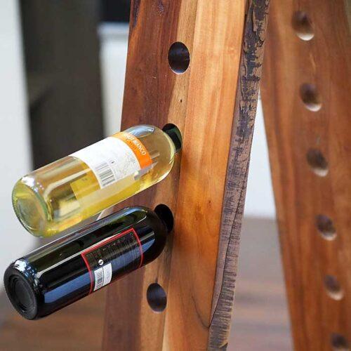 porta bottiglie legno teak