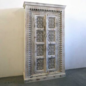 armadio bianco antico india