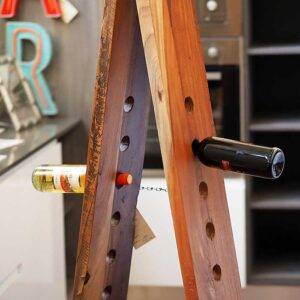 mobile porta bottiglie vino teak