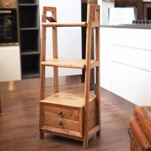 mobiletto libreria legno teak