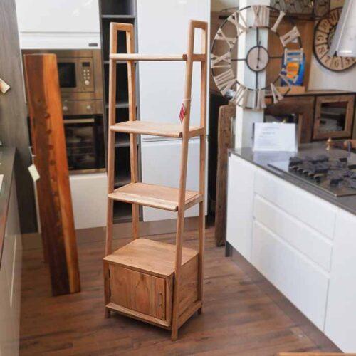 mobiletto libreria legno teak massello