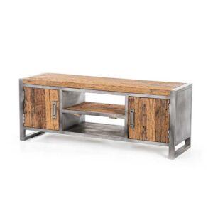 mobile basso legno naturale e ferro