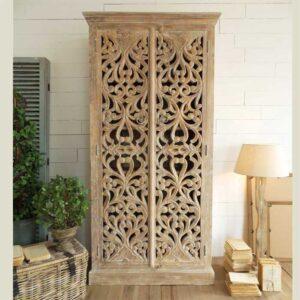 armadio decorazioni legno
