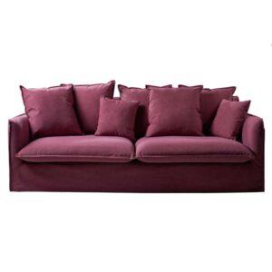 divano imbottito bordeaux